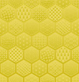Hexagon seamless pattern with Japanese traditional design. — Stock Vector