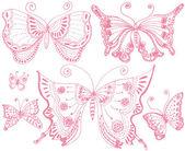 Farfalla pizzo — Vettoriale Stock