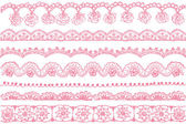 Lace trims. — Stock Vector