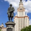 Stock Photo: Lomonosov monument. Moscow, Russia.