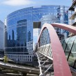 Covered footbridge in La Defense. — Stock Photo