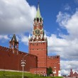 A Spasskaya  tower of Kremlin wall, Moscow, Russia. — Stock Photo