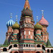 St. Basil's Cathedral on Red square, Moscow — ストック写真