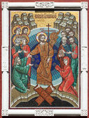 Mosaic icon the Resurrection of Christ. — Stock Photo