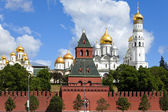The cathedrals of Moscow Kremlin. Russia. — Stock Photo