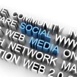 Social media illustration — Stock Photo