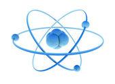 Atom blue — Stock Photo