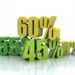 Stock Photo: Percent, sales concept