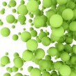 Abstract green spheres — Stockfoto #34002843