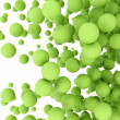 Foto de Stock  : Abstract green spheres
