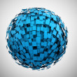Abstract blue sphere — Stock Photo