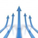 Blue arrows — Stock Photo #34003079