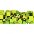 Abstract Cube Background — Stock Photo