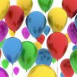 Color balloons on white — Stock Photo