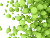 Abstract green spheres — Stock Photo