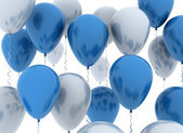 Blue and white party balloons — Stock Photo
