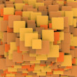 Abstract retro 3d cubes background — Stock Photo