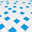 Blue and white cubes 3D — Stock Photo