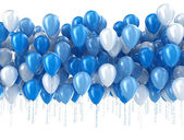 Blue balloons isolated — Stock Photo