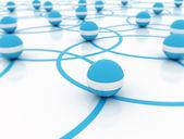 Network 3d illustration — Stock Photo