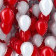 Red and white balloons background — Foto de Stock