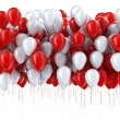 Red and white party balloons — Stock Photo #34224705