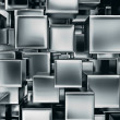 Stock Photo: Abstract image of metal cubes background