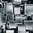 Abstract image of metal cubes background — Stock Photo #34224707