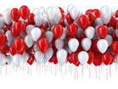 Red and white party balloons — Stock Photo