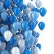 Balloons isolated on white  — Stock Photo