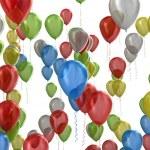 Multicolored balloons — Stock Photo #34259275