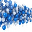 Blue balloons isolated on white background — Stock Photo
