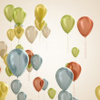 Multicolored balloons — Stock Photo #34259423