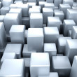 Stock Photo: Abstract metallic blue cubes background