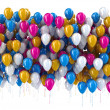 Multi color balloons isolated on white  — Stock Photo