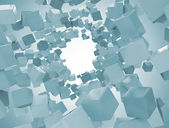 Abstract image of cubes background — Stock Photo