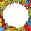 Colorful birthday party balloons — Stock Photo
