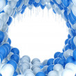 Balloons celebration background — Stock Photo