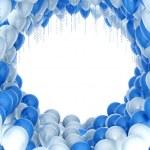 Balloons celebration background — Stock Photo