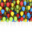 Stock Photo: Colorful birthday party balloons