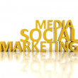 Social medimarketing — Stock Photo #34774591