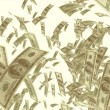 Dollar bills background — Stock Photo