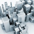 Abstract 3d model of a city — Stock Photo