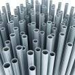 Stock Photo: Metal tubes on white background