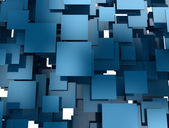 Abstract blue 3d squares background — Stock Photo