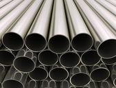 Tubos de metal — Fotografia Stock