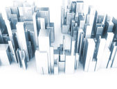 Abstract 3d city scape model — Stock Photo