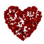 Large heart formed of many small hearts — Stock Photo
