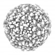 Stock Photo: 3d sphere made of cubes