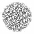 3d sphere made of cubes — Stock Photo